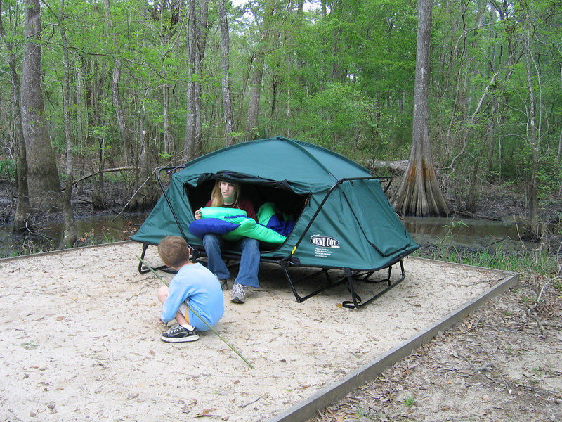 I have the tent cot but it is bulky to move around and take lots of room : tent with cot - memphite.com