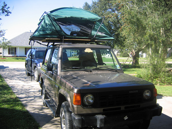 ... to the Yakamia rack (no pictured). I will be working on a cover. More pics to come...I will have it where I can move to my Nissan Frontier and the wifes ... & Tent Cot to Roof Top Tent conversion - Expedition Portal